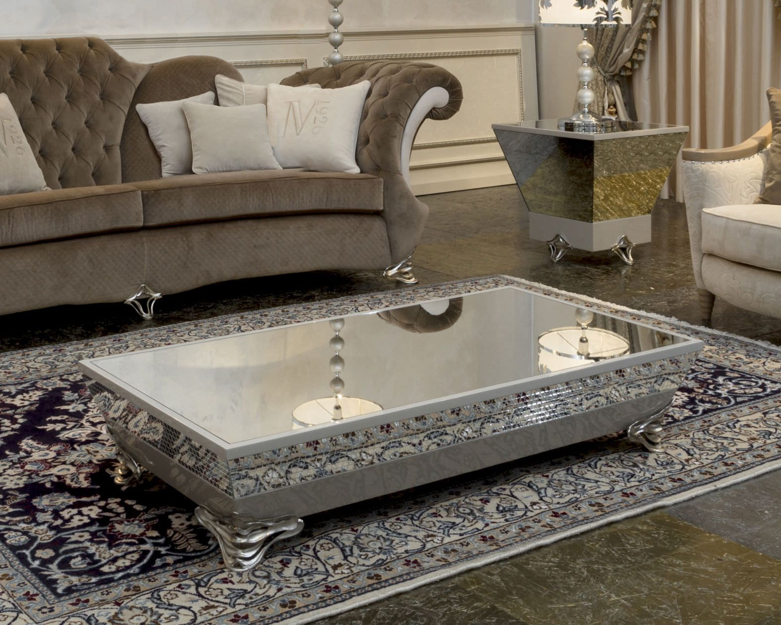 Luxury Mirrored Coffee Table Mirrored Coffee Tables Coffee Table Silver Living Room Table
