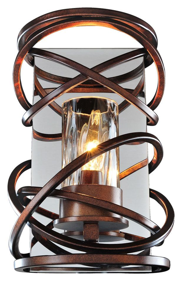 Kalco 6601 Eternity Etruscan Bronze 10 Inch Tall Modern ... on Discount Wall Sconces id=94941