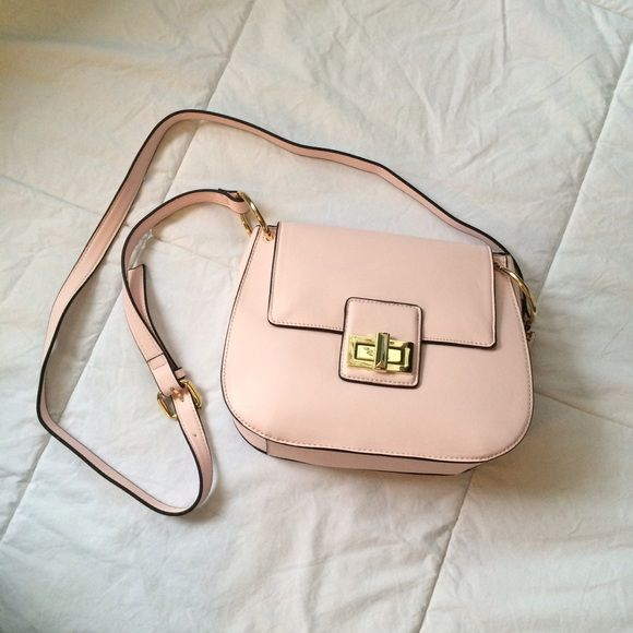 Lowest French Connection Fiona Saddle Bag In Rose