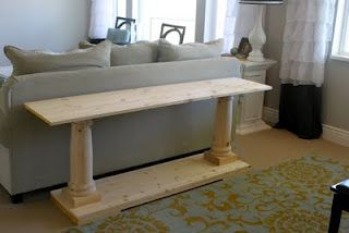 DIY  a gorgeous sofa table or use it in the entry of your home ..stain it ,paint it etc... the ideas are endless