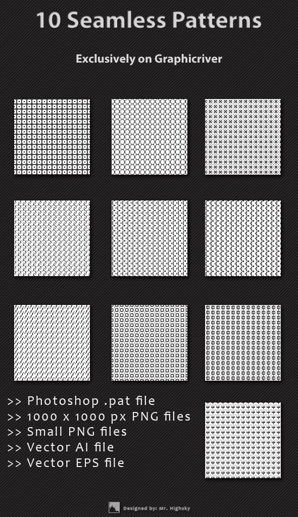 10 Small Background Seamless Patterns Seamless Patterns