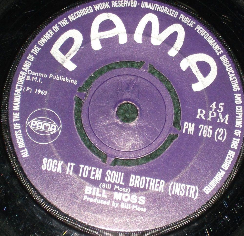 45 Vintage Vinyl Reggae Record Bill Moss Sock It To Em Soul Brother 1969 Caribbeancuba Records Reggae Vinyl Record Art