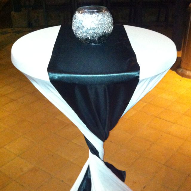 Wedding High Table Decoration Ideas: Cocktail Table Cover And Decorations
