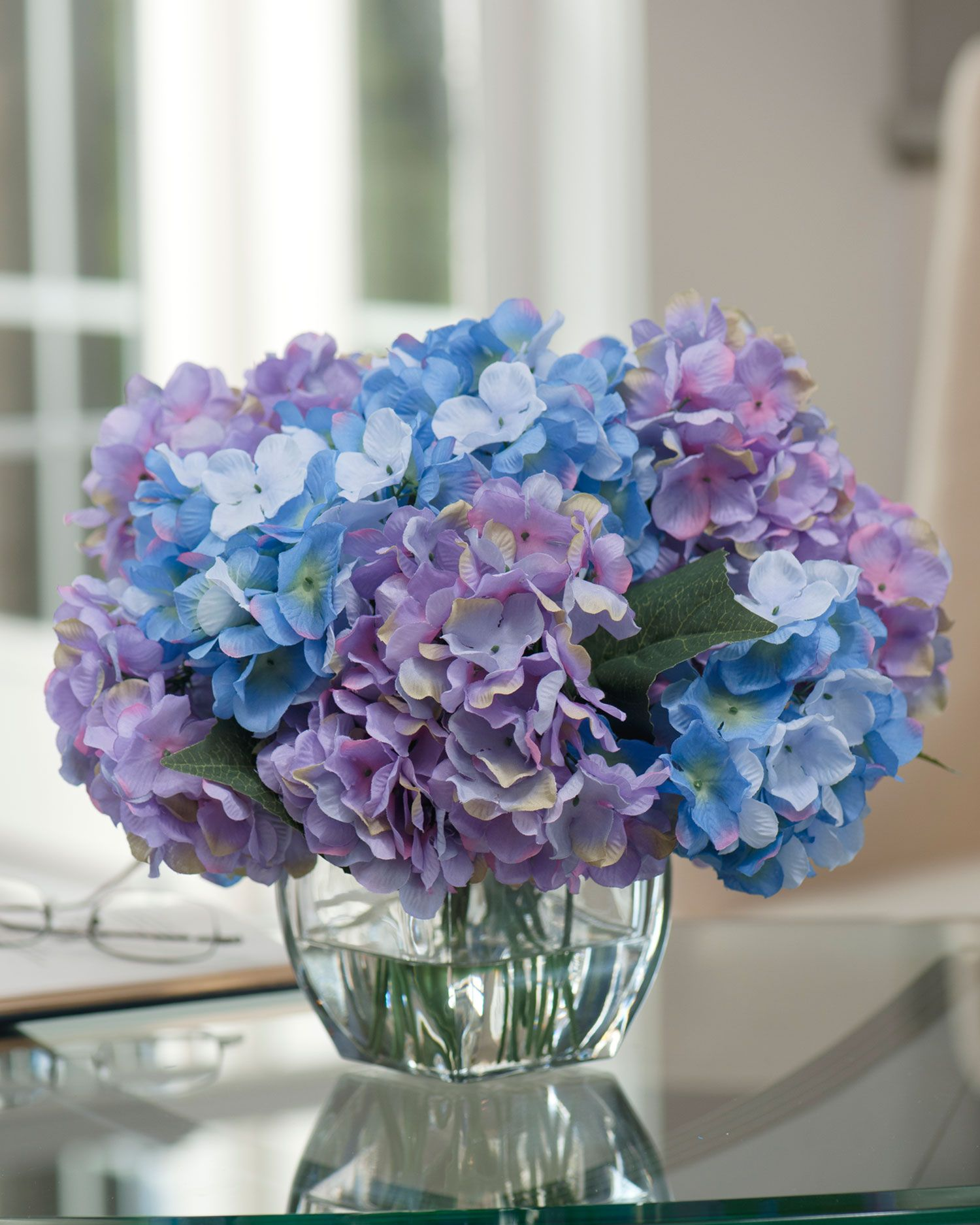 Silk hydrangea centerpiece hydrangea centerpieces and for Table arrangements