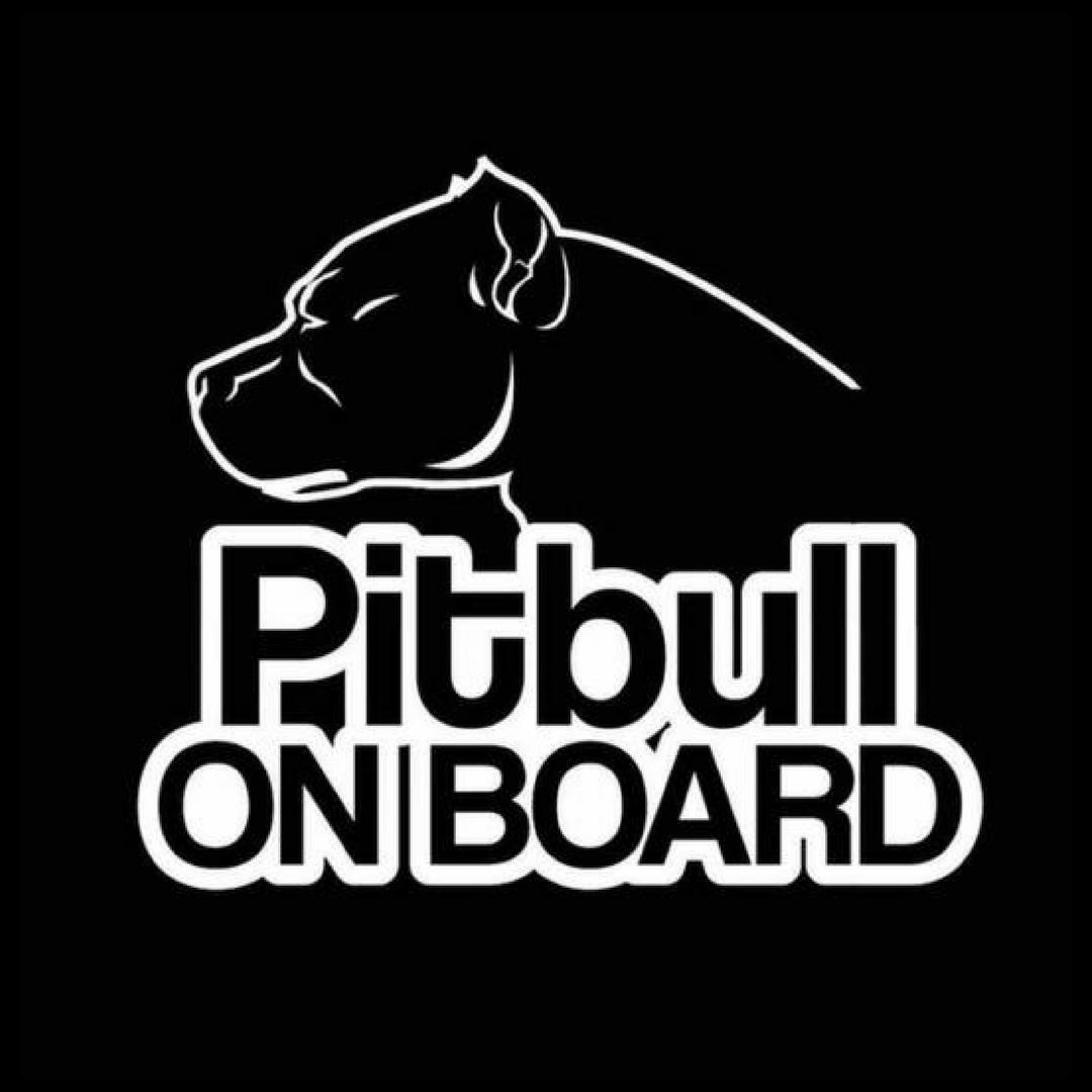 Pitbull On Board Dog Vinyl Funny Waterproof Car Sticker Black Silver Pitbull Dogs Car Board Pitbullonboard Pitbulls Funny Car Stickers Funny Pitbulls [ 1080 x 1080 Pixel ]