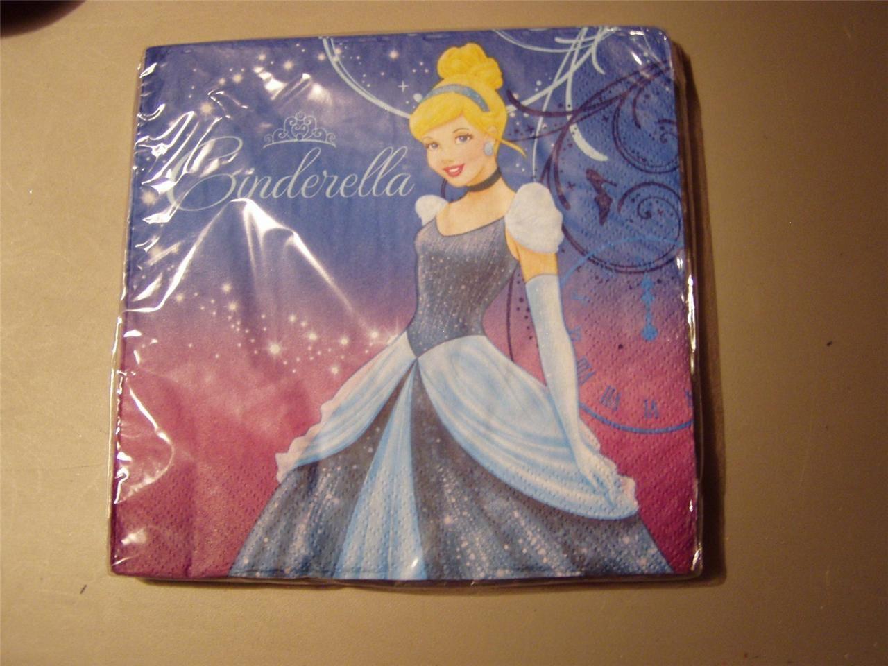 Disney Princess Cinderella Party Napkins By Hallmark (2 Sets) - $10.99