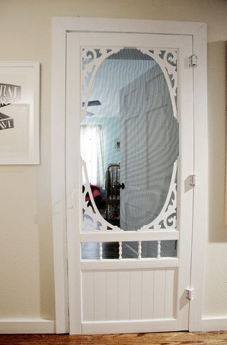 steal this idea installing a screen door for kid's room