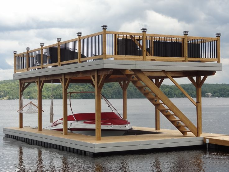 The view from inside the Floating House\'s boat dock. | One day ...