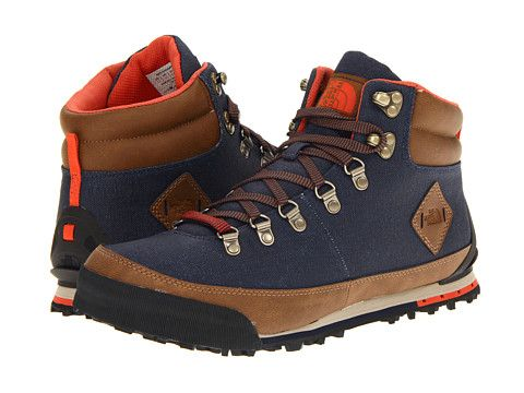 The North Face Back To Berkeley Boot Canvas Cosmic Blue Rare Earth Brown Zappos Com Free Shipping Both Ways Boots Orange Boots Mens Shoes Boots