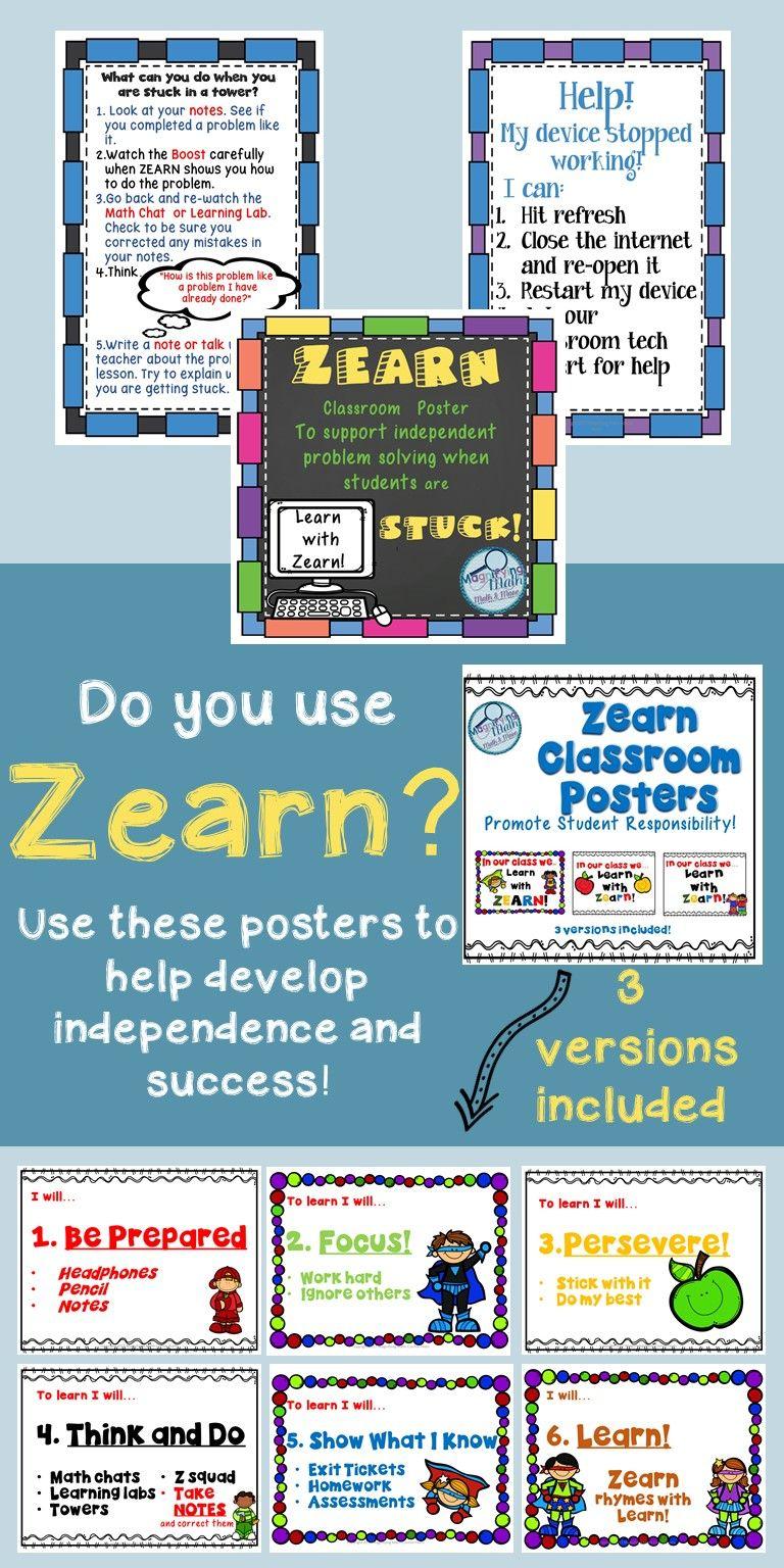 Zearn Math Classroom Posters | Zearn | Math classroom, Teaching math