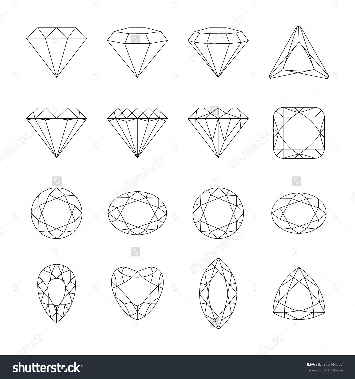 set of isolated gem stones vector set of diamond design elements precious gem stones set of. Black Bedroom Furniture Sets. Home Design Ideas
