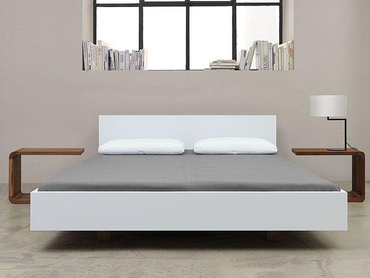 Bett Simple Hi 79 - schlichtes Massivholzbett mit 79 cm hohem - einrichtungsideen schlafzimmer betten roche bobois