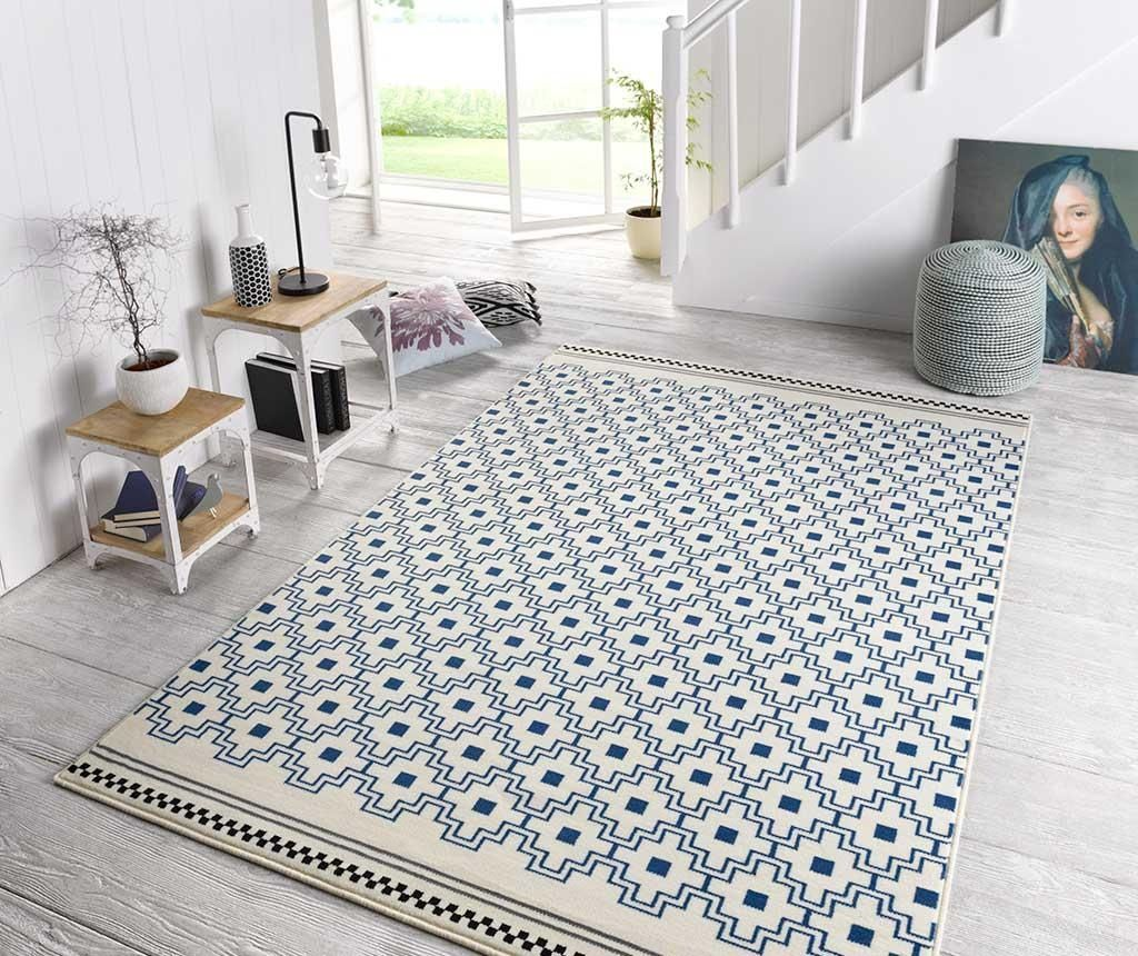 Covor Capri Cubic 70x140 Cm Grey And Cream Rug Outdoor Rugs Grey Carpet