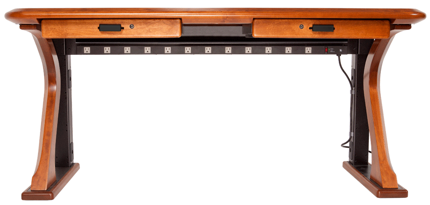 Artistic Computer Desk 2 has a 12 position power strip
