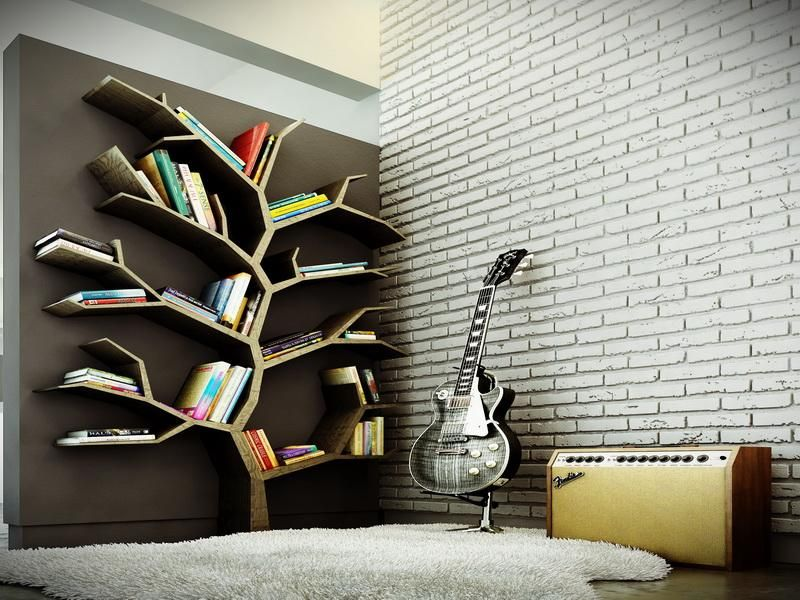 Modern Bookshelf Design consider integrating crazy book storage ideas in your home design