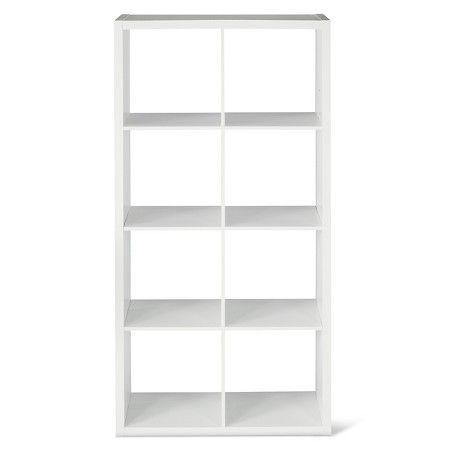 8-Cube Organizer Shelf White 13
