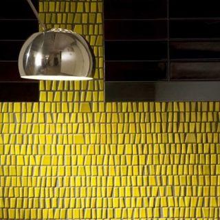 Ceramica Di Treviso yellow tile backsplash | Tile | Pinterest | Grey ...