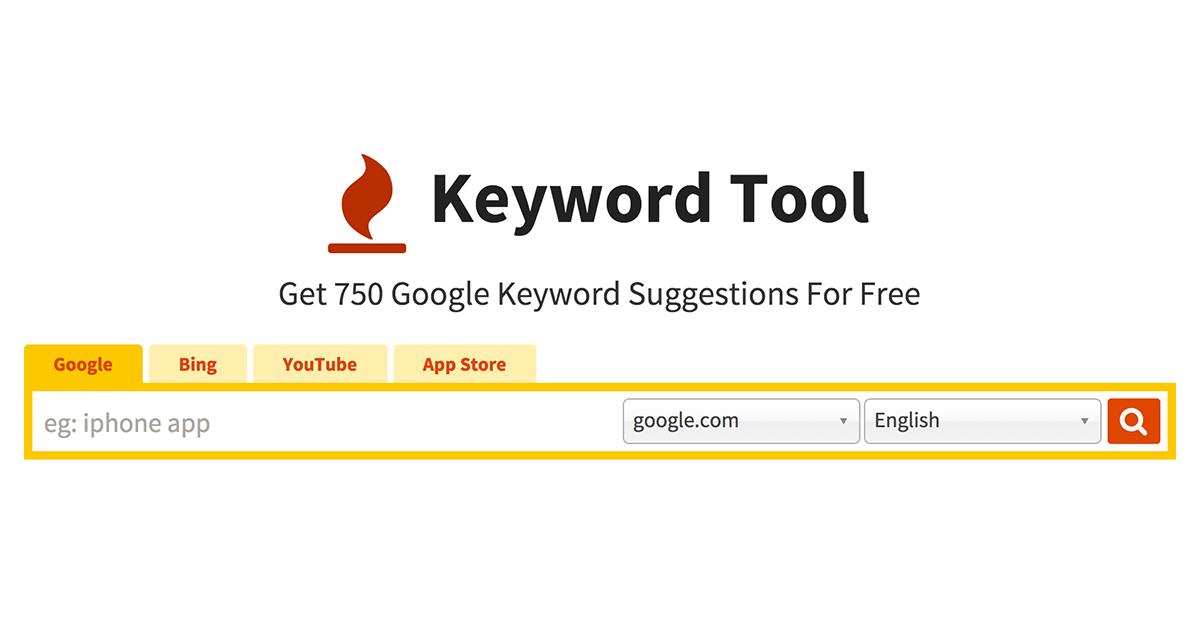 Keyword Tool - best youtube keyword tools