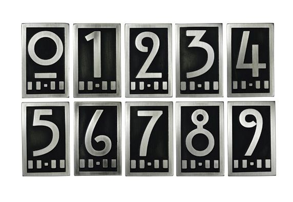 Art Deco House Numbers Craftsman House Numbers Art Deco Home House Numbers