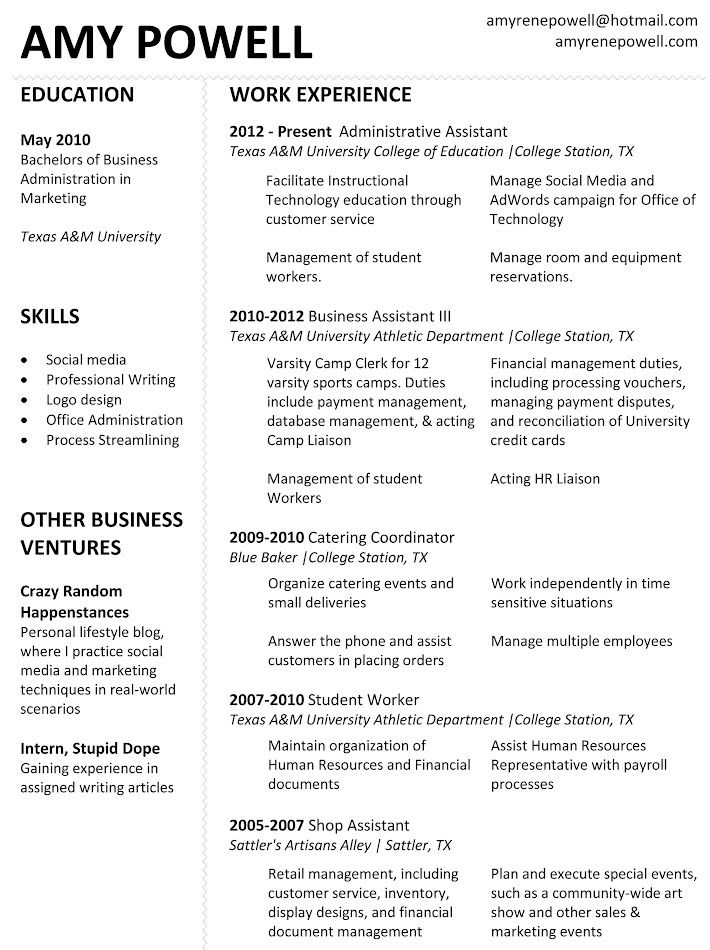 resume  updated april 2012