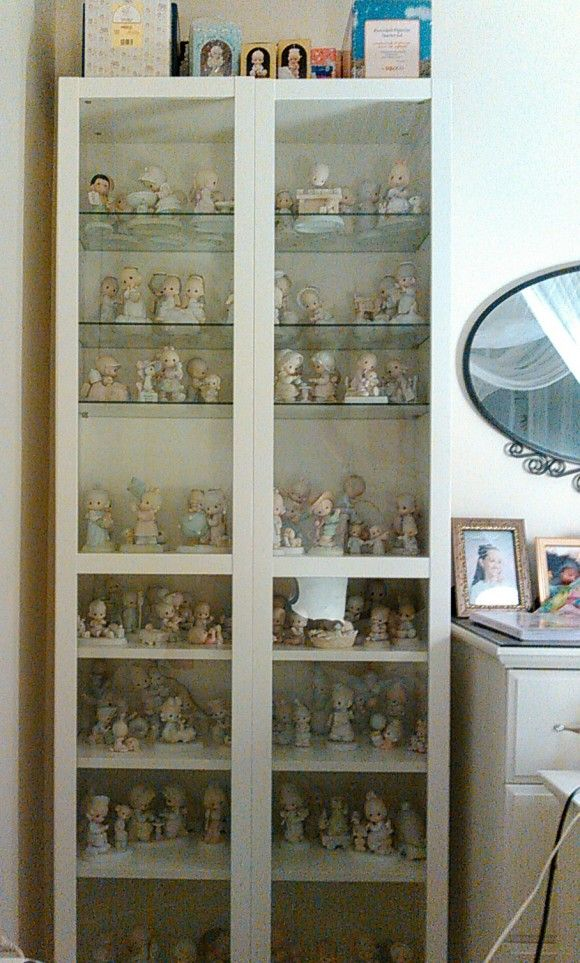 Precious Moments In The Billy Bookcase Precious Moments Figurines Precious Moments Billy Bookcase