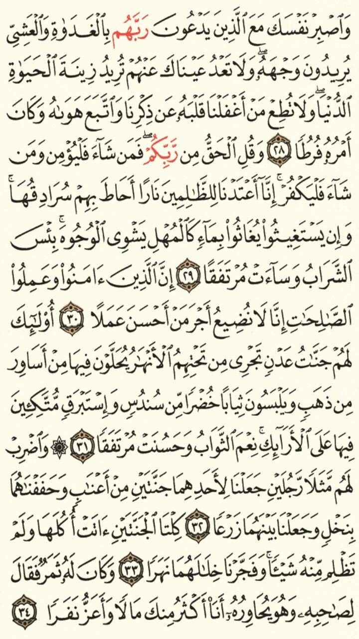 سورة الكهف الجزء الخامس عشر الصفحة 297 Quran Verses Verses Quran