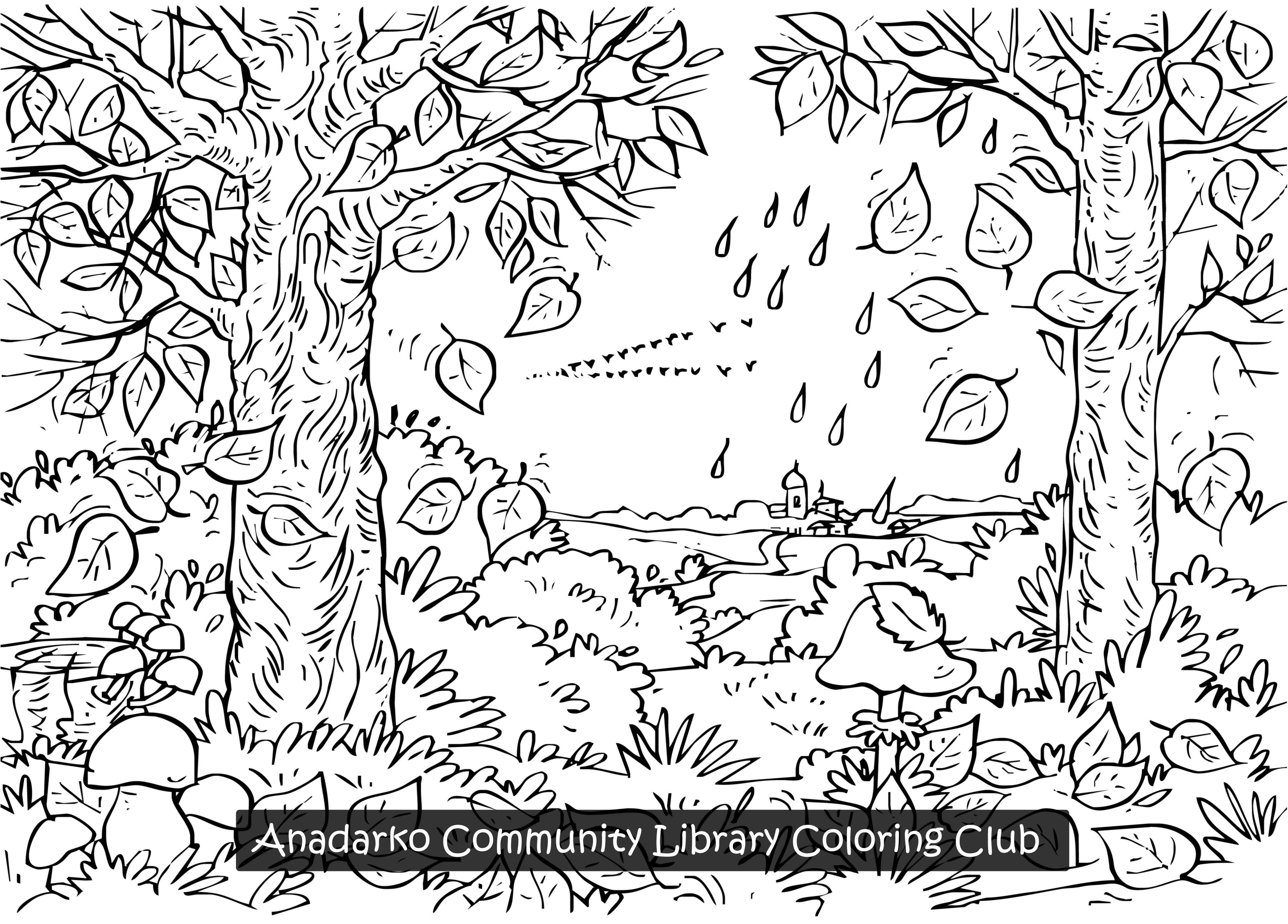Fall coloring pictures for adults printable - Coloring Pages For Adults Nature Colouring Pages Coloring Pages Doodles And Autumn Tre Color