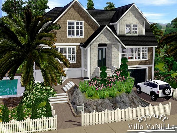 Ayyuff S Villa Vanilla Furnished Sims House Sims House Plans Sims Building