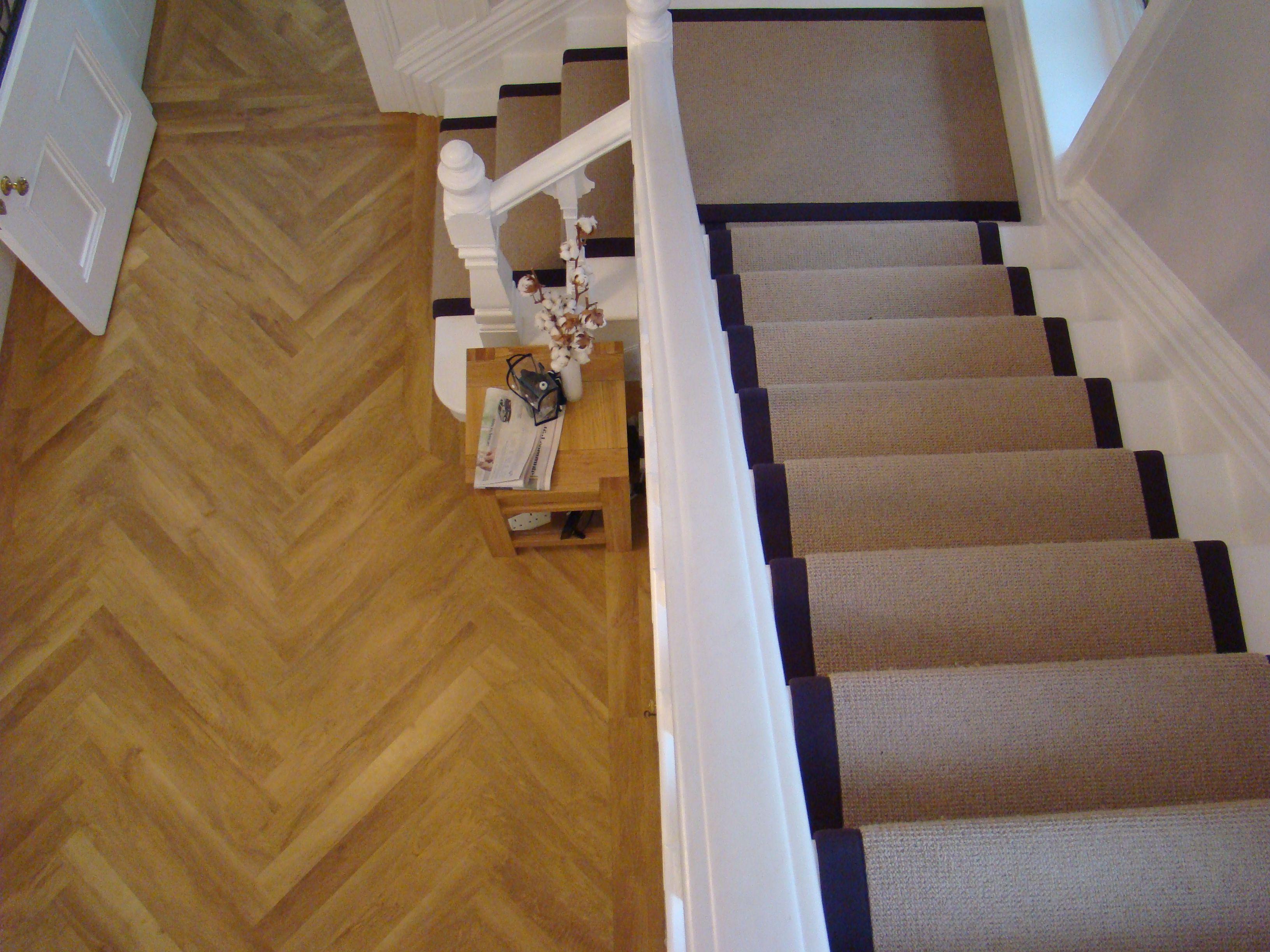 Karndean S Knight Tile In Shannon Oak Laid In A Herringbone Style Luxury Vinyl Tile House