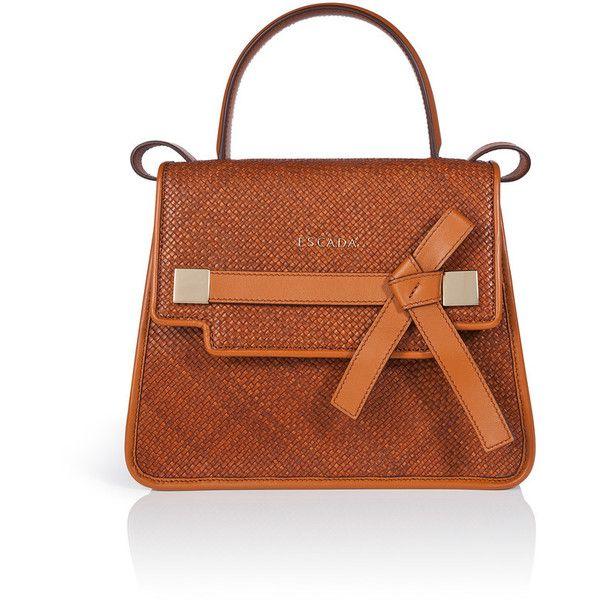 Escada Handbag Ml40 1 295 Liked On Polyvore Featuring Bags Handbags Copper Hand Leather Shoulder Strap Purses Han