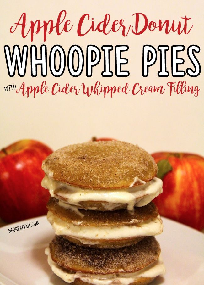 Apple Cider Donut Whoopie Pies with Apple Cider Whipped Cream Filling • (NO, I'M NOT MESSING AROUND) | Neon Rattail - -