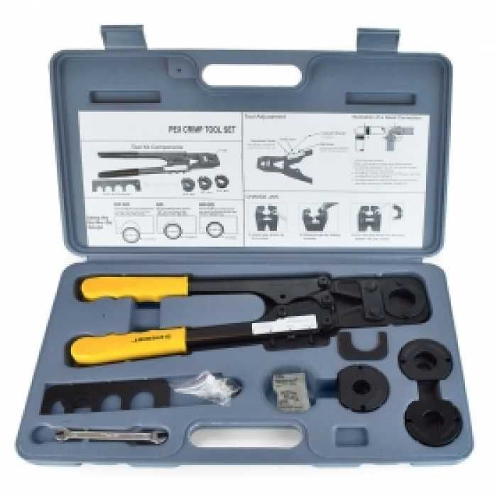Pex Crimp Tool Kit For Sizes 1 2 5 8 3 4 1 Plumbing Tools Tool Kit Pex Tubing