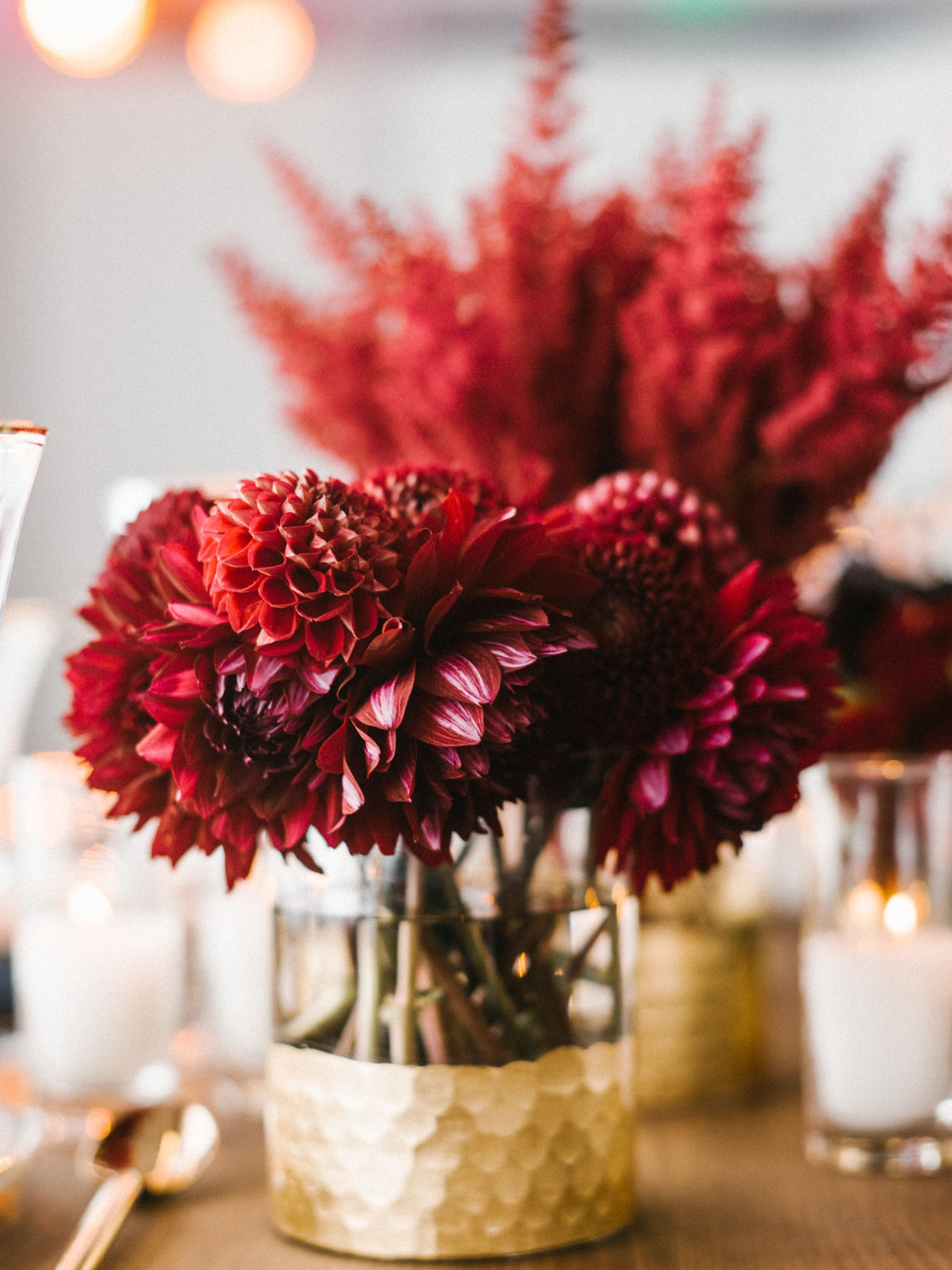 Luxurious Red And Gold Wedding Centerpiecesdecor