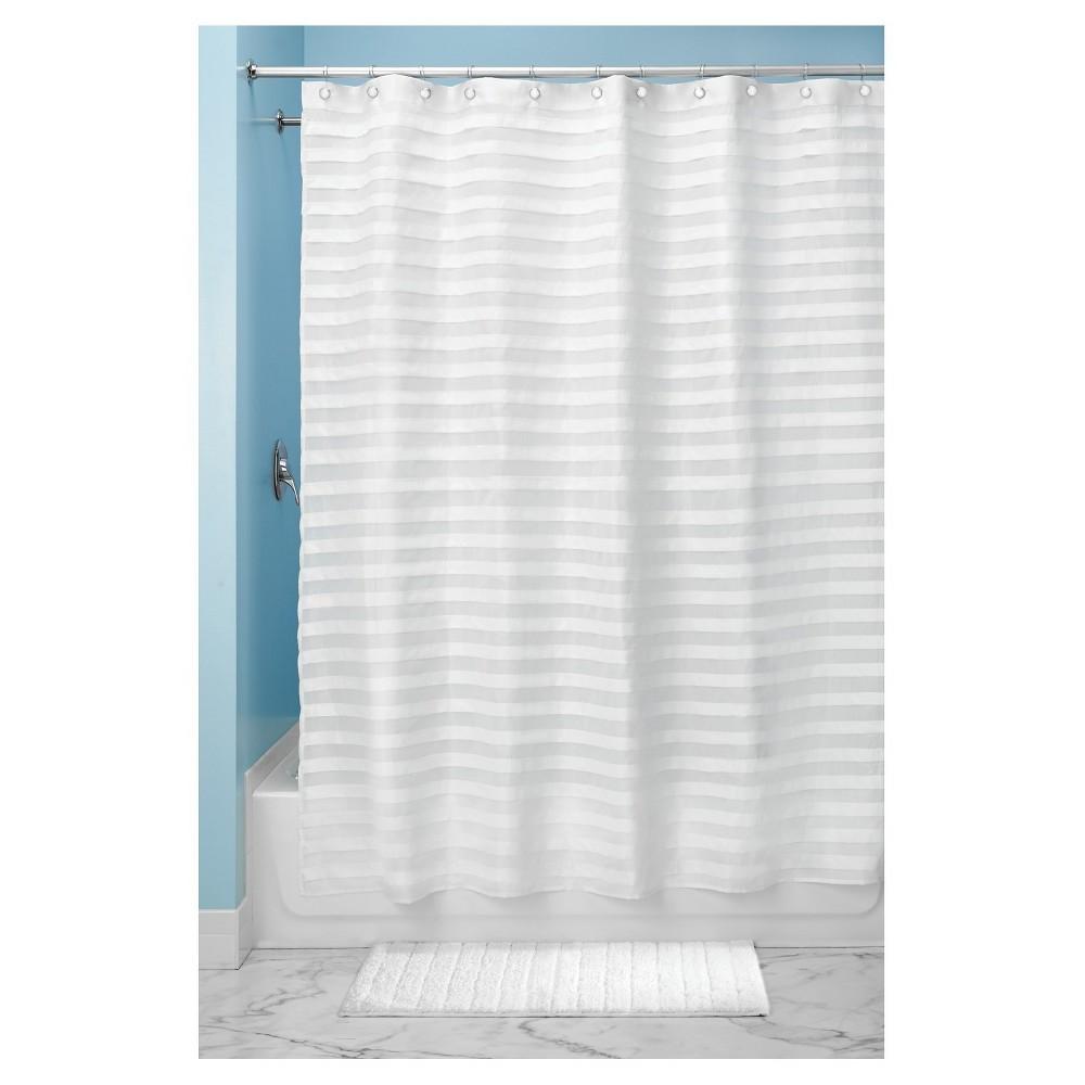 Tissus Rideau Salle De Bain ~ Tuxedo Shower Curtain White 54 X78 Interdesign