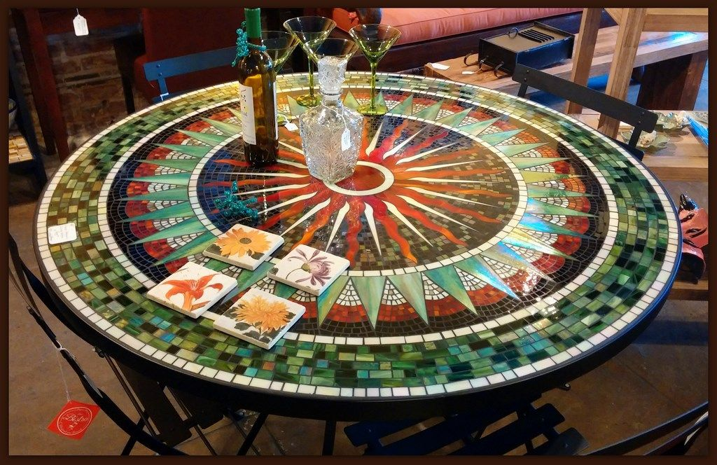 Furthur Wholesale Mosaic Dining Tables Mosaic Table Round Patio