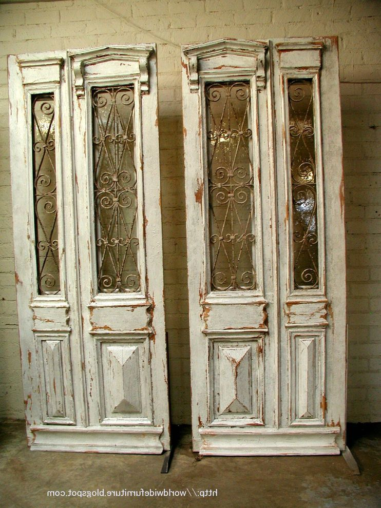 Antique interior stained glass doors