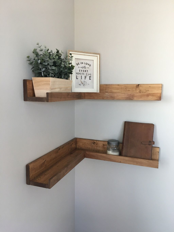 39 Superb Corner Floating Shelves Ideas For Your Room Corner Floating Shelves Diy Floating Corner Shelves Diy Corner Shelf