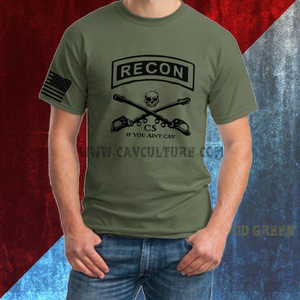 b7cf456b Black and OD Green. Cav Scouts. If you aint cav... | T-Shirts ...