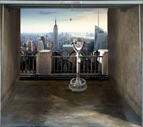Garagentor design aufkleber  Fotoplane für Garagentor NYC View / Garage Mural NYC View ...