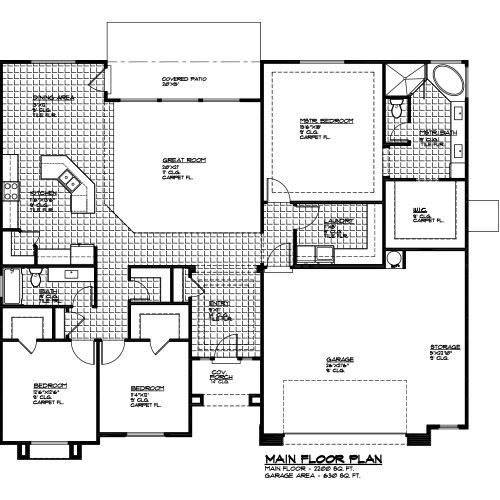 2200 Sq Ft 3 Bed 2 Bath And 2 5 Car Garage Floorplan Encehomes Newhome New Homes For Sale New Homes Floor Plans