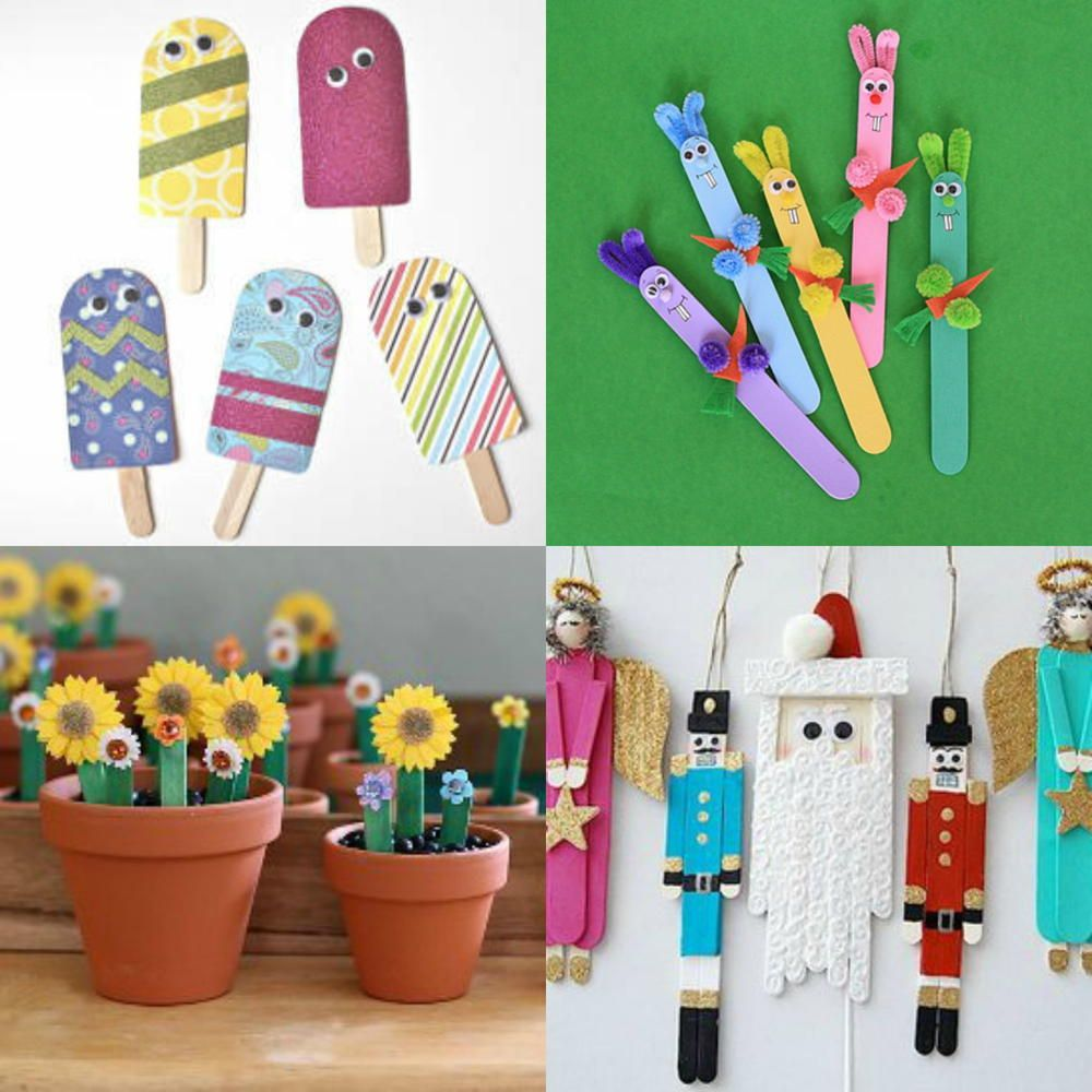 What to make with popsicle sticks 50 fun crafts for kids for Cool fun easy crafts