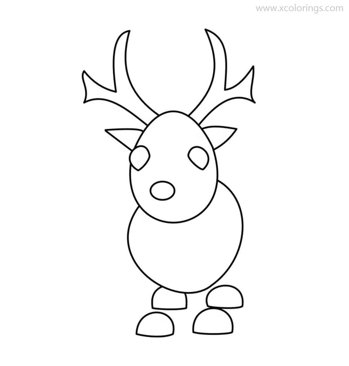 Roblox Adopt Me Coloring Pages Reindeer In 2020 Cow Coloring Pages Coloring Pages Cute Drawings