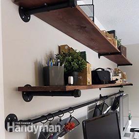 Regale machen Wände funktionsfähig 8 Ideen für die Organisation von Home Office-Schreibtischen, die Sie …