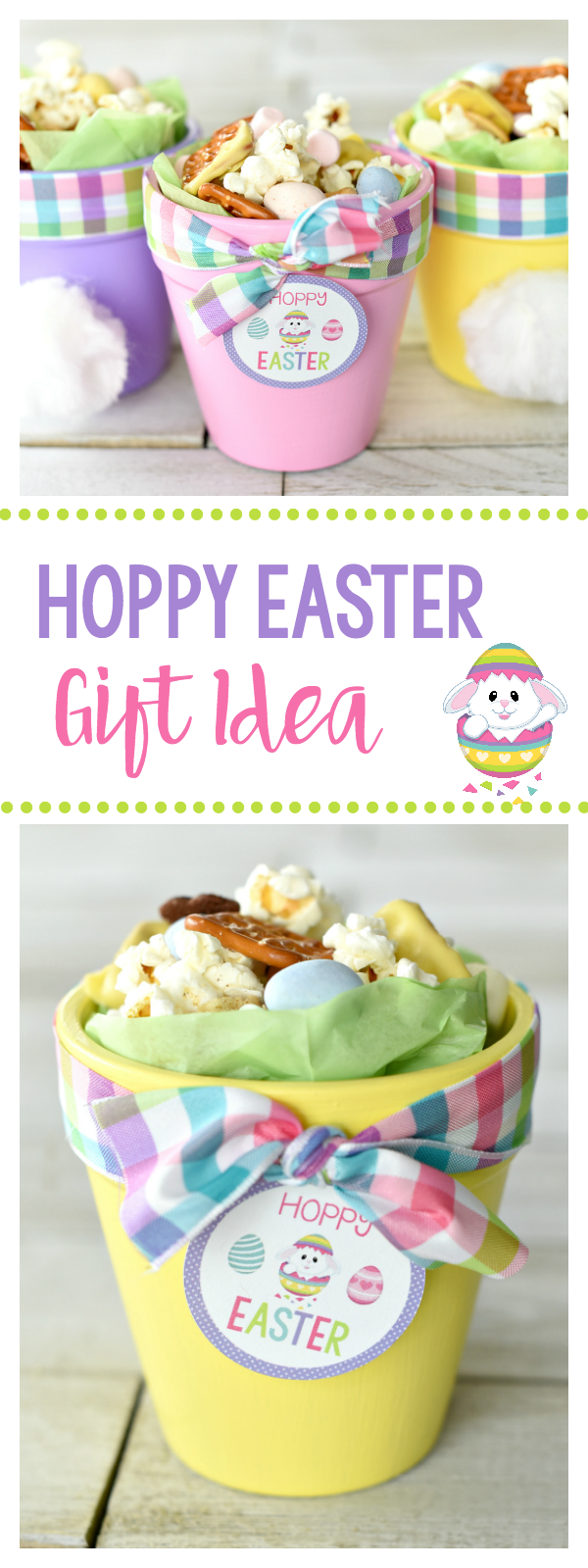 Cute easter gift ideas hoppy easter bunny pots snack mixes easter cute easter gift bunny pots filled with a fun easter snack mix eastercraft negle Image collections