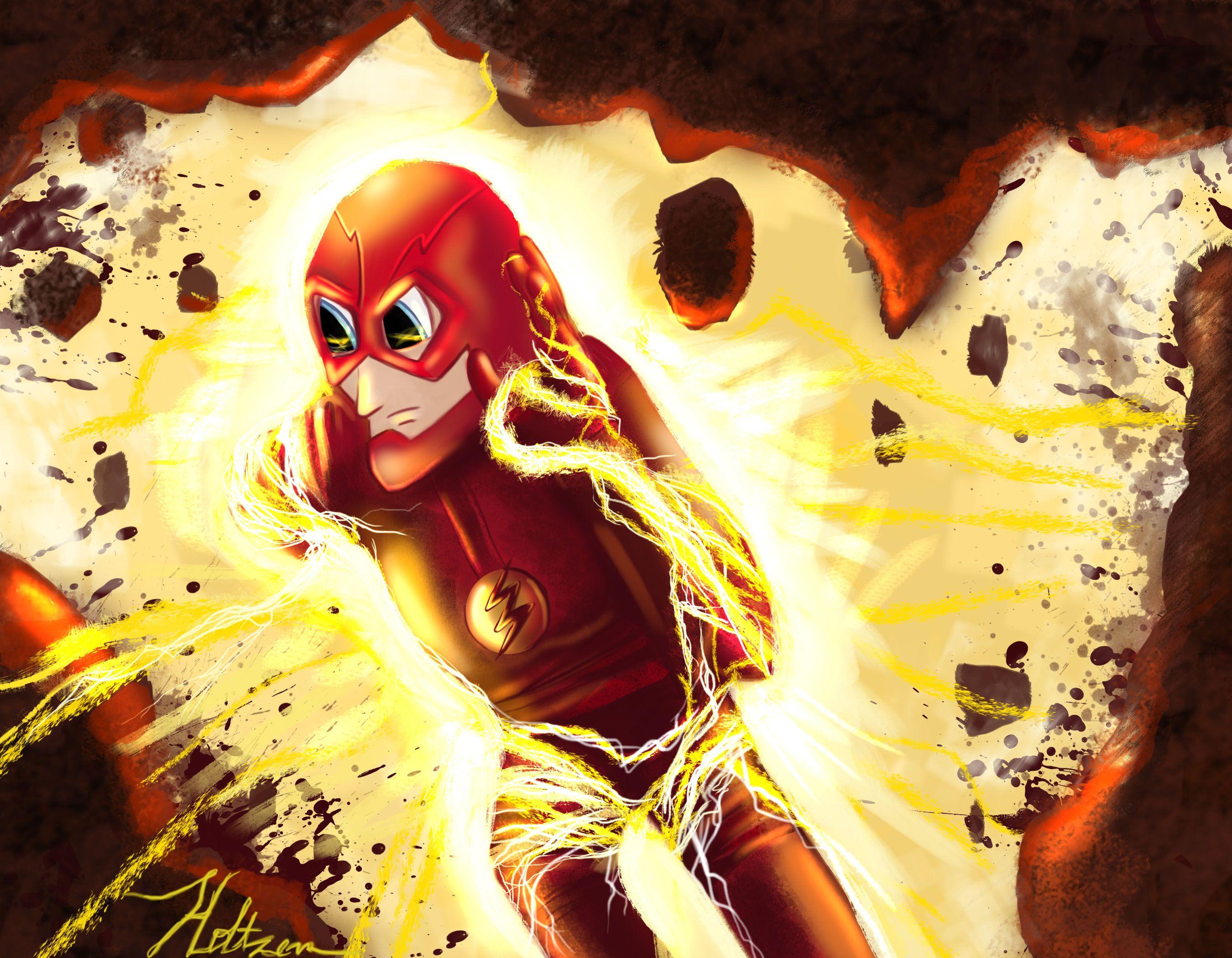 The flash the flash art dc comics comic art fan art flash