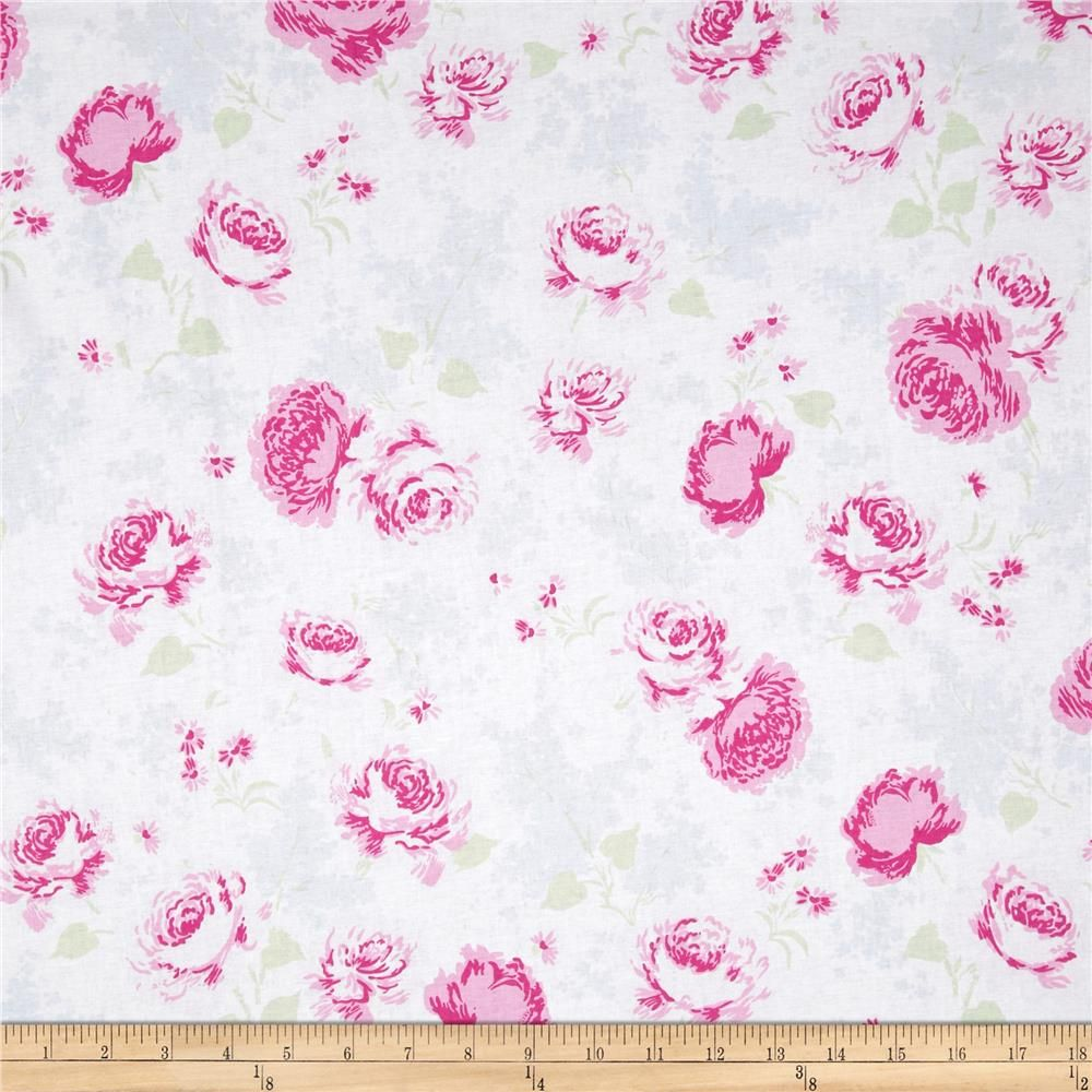 Treasures by Shabby Chic Ballet Rose Large Floral White ...