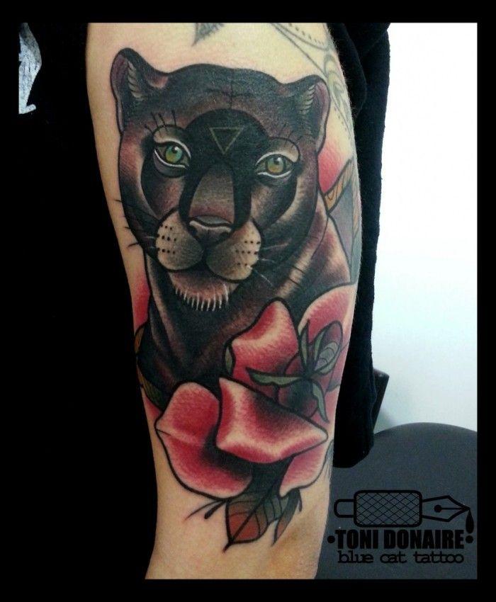 Tatuaje De Pantera Negra Sfb