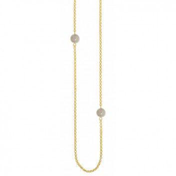 """Die Kette """"Astrid"""" aus vergoldetem Schmuckmessing des dänischen Labels Sence Copenhagen besticht durch zeitloses Design und eine elegante Form."""