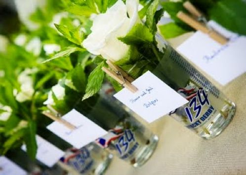 shot glass, party dot, orchid, hmmm, maybe not enough orchids in the swamp, but such a cool idea for the name tags, maybe just a vodka shot to get the party started ;)