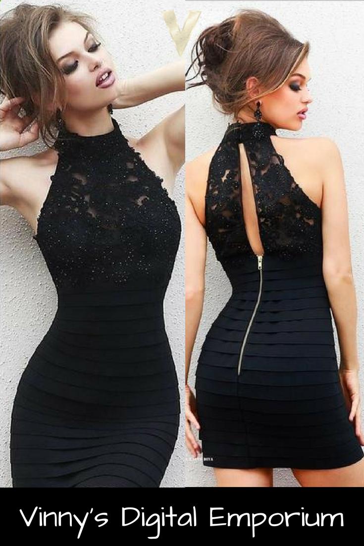 8e136d909c We have the cutest black halter dresses for you! Shop the latest black halter  dress styles at Vinny s Digital Emporium.  blackdress  dresses